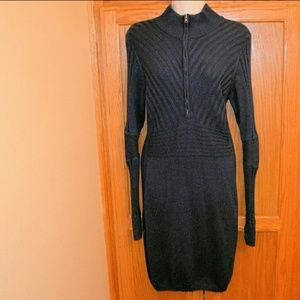 Athleta Long Sleeve Ribbed 1/2 Zip Sweater Dress M
